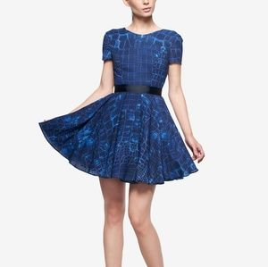 Fame and Partners blue baby doll dress size 4